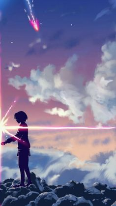 Anime Kimi No Na Wa/ Your Name Wallpaper Lockscreen HD fondo de panta lla Wallpaper Casais, Kimi No Na Wa Wallpaper, Your Name Wallpaper, Wallpaper Animes, Cute Couple Wallpaper, Matching Wallpaper, Animes Wallpapers, Anime Backgrounds Wallpapers, Wallpaper Dekstop