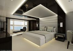 The standard setup for the Sunseeker 131 is five cabins that can accommodate a total of 10 guests, said Sunseeker International #Whitebedrooms