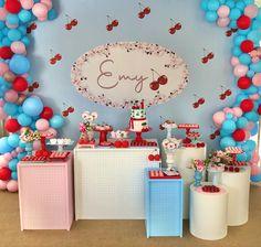 Baby Girl Birthday, Birthday Cake, Fun Party Themes, Cherry Cake, Childrens Party, Cake Smash, Party Time, Aurora, Birthdays