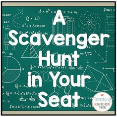 Teaching High School Math: A Scavenger Hunt in Your Seat (and a FREEBIE!) You are in the right place about High School graduation Here we offer you the most beautiful Math Teacher, School Classroom, School Teacher, Classroom Seats, Math 8, School Notes, Teaching Geometry, Teaching Math, Teaching Ideas