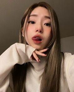 Korean Beauty Girls, Pretty Korean Girls, Beautiful Asian Girls, Aesthetic Grunge Outfit, Aesthetic Girl, Cute Makeup, Makeup Looks, Japonese Girl, Beautiful Girl Makeup
