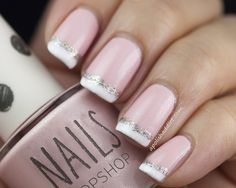 Sparkly twist on a French Manicure