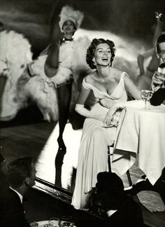Suzy Parker and Robin Tattersall, evening dress by Madame Grès (Alix Barton and Alix), Cabaret Moulin Rouge in Paris, Photo by Richard Avedon, 1957    MOTEHISTORIE