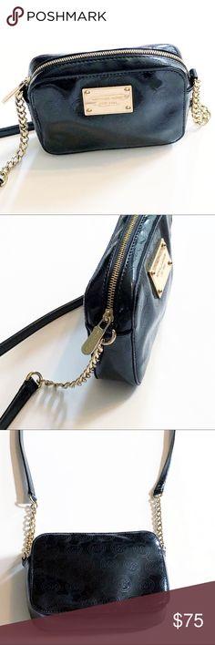 1628161457e9 Michael Kors Black Patent Leather Crossbody Bag. Poshmark