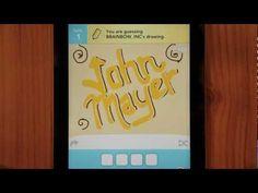 "John Mayer ""Queen of California"" Draw Something video. Sweet!"
