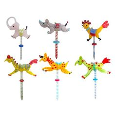 What A Great Birthday Tradition Glass Carousel Animal Candle Holders Set Of 6