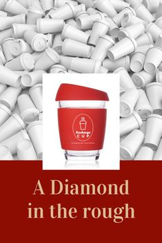 Click now for your Diamond - The Recharge Reusable Coffee Cup Take Away Cup, Glass Coffee Cups, Reusable Coffee Cup, Clean Dishwasher, Drink Dispenser, Rough Diamond, Iced Tea, Cold Drinks, Food Grade