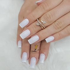 french nails for wedding Ring Finger French Manicure Designs, French Tip Nails, Cool Nail Designs, Nails Design, Art Designs, Design Design, Red Manicure, Manicure And Pedicure, Pink Nails