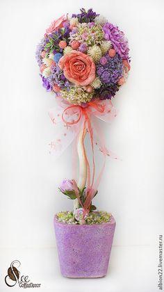 Топиарий - фиолетовый,подарок девушке,подарок женщине,подарок на день рождения