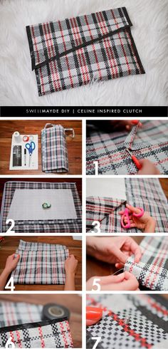 DIY Plaid Clutch inspired by Celine