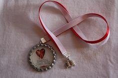 """6mm Ribbon bookmark, double ribbon, made for """"BleedingHeart Blog""""  https://www.facebook.com/BleedingHeartBookBlog"""