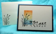 Thanksgiving Sandpipers (card front & envelope)
