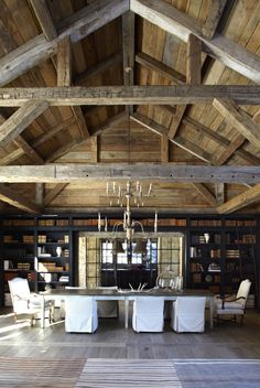 Converted Barn With More Open Space Like The Warmth Of The Brown With Yello