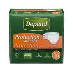 Depend Overnight Fitted Briefs, Large, Multicolor
