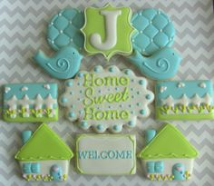 One Dozen Home Sweet Home New Home Decorated by DolceDesserts, $36.00