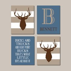 Hey, I found this really awesome Etsy listing at https://www.etsy.com/listing/210902494/baby-boy-nursery-decor-deer-antler