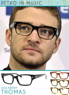 Justin Timberlake successfully 'bringing spexy back' (sorry couldn't help it). Mr. J.T. is confidently wearing a shiny black retro frame at a after party. This geek chic look is getting more and more popular with men. You too can have this look by wearing the Dolabany Thomas, a unisex frame found in Black, Tortoise, Olive Streak, and Demi Blond. Check out all the colors here: DOLABANY THOMAS by Best Image Optical.