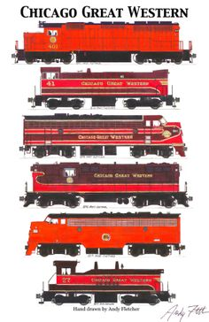 """My 11""""x17"""" poster of Chicago Great Western, """"The Corn Belt Route"""""""