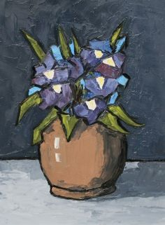 Irises by David Barnes, oil, 16 x 12 inches | Red Rag Gallery