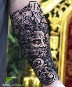 Greek Goddess Tattoo, Greek God Tattoo, Greek Mythology Tattoos, Roman Mythology, Realistic Tattoo Sleeve, Forearm Sleeve Tattoos, Tattoo Sleeve Designs, Cool Sleeve Tattoos, Best Forearm Tattoos