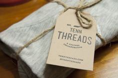 Tenn Threads Shirt Tag and branding.