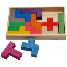 Bajo 97610 - Drewniana układanka Logiczna - Puzzle Pentomino dla Dzieci od 3 lat. Puzzle Pentomino to 12 elementowa łamigłówka 3D składająca się z 5 różnych kształtów wykonanych z drewna do układania figur 3D. Zobacz co można ułożyć:)
