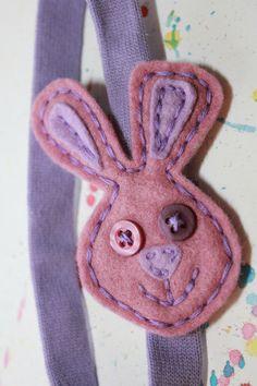 Pauli the Purple Bunny Headband. $17.00, via Etsy.