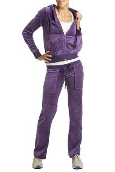 Women's Velour Hooded Jacket & Pant Tracksuit: Pink Lady by Gazoz - Listing price: $149.95 Now: $27.95 + Free Shipping