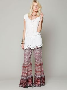 Free People Ocean Drive Printed Pant, $99.95 @Sage O'Brien