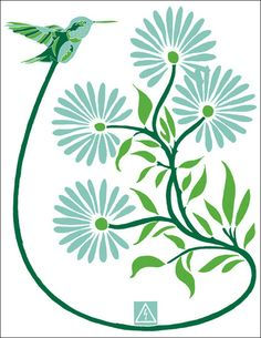 fun, bright, graphic poster from Option-G. #posters #blue #green #nature