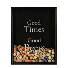 Beer Bottle Cap Collector -with Good Times Good Beers graphic applied to glass