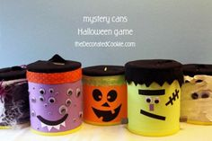 what's inside? Monster mystery cans for Halloween