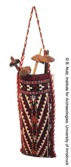 Turkey, Yomut - spindle bag and spindles