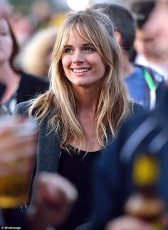 Awkward: Prince Harry's ex-girlfriend Cressida Bonas also attended the closing ceremony fo...