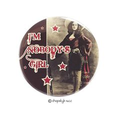Items similar to 3 inch Pocket Mirror: I'M Nobody's Girl on Etsy Counter Display, I Shop, Magnets, Graphic Design, Personalized Items, Mirror, Abstract, Etsy, Feminism
