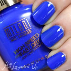 Milani Blue Zoom. Click through for more Milani spring swatches. via @All Lacquered Up