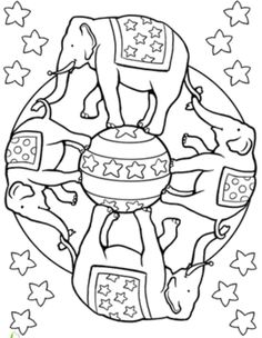 Circus Elephant Mandala Coloring Pages - Mandala Coloring pages of ...