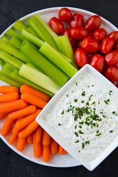 Lighter Greek Yogurt Ranch Dip