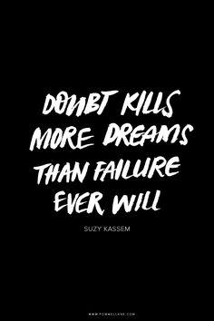 ❥ Kill the doubt~ Walk by faith, not by sight