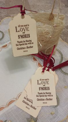 S' more love favor tag Etsy listing at https://www.etsy.com/listing/199114580/personalized-favor-smore-love-tags-2-12
