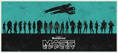 Mass Effect series poster by WilliamHenryDesign on Etsy, $25.00
