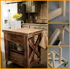 diy rustic kitchen island