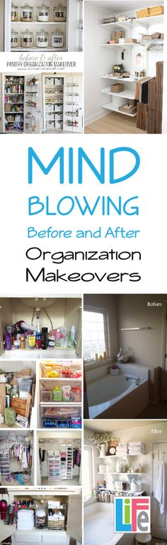 Before and after makeovers are the bread and butter of Pinterest. Honestly, organizational reveals are some of the best motivation you can find on the web. Sometimes it can be difficult to look at your overstuffed pantry or disastrous closet and see the possibilities. That's where is can be helpful to see the
