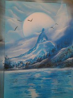 peinture sur toile à la bombe