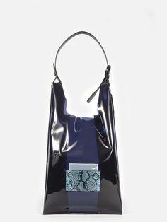 Jil Sander market bag with python