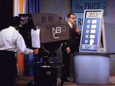 """The Price is Right"" - Original host (from 1956-1965) Bill Cullen, on the set of the popular TV game show. Photo Credit: Library of Congress"