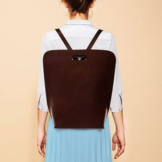 Backpack Bag - Brown - alt_image_three - by Simple b