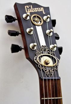 亗 Dr. Emporio Efikz 亗 — Gibson Guitar Steampunk Custom Made by 亗 Dr. Emporio Efikz 亗 — Gibson Guitar Steampunk Custom Made by Gibson Acoustic, Acoustic Guitar For Sale, Gibson Guitars, Lefty Guitars, Gibson Les Paul, Steampunk Guitar, Home Music, Dj Music, Guitars