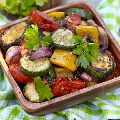 Enjoy our collection of online recipes from kitchens like yours. Browse breakfast recipes, lunch recipes, dinner recipes, dessert recipes and more. Vegetarian Recipes Australia, Vegan Recipes Easy, Soup Recipes, Grilled Vegetables, Veggies, Vegetable Salad Recipes, Herb Salad, Winter Vegetables, Stuffed Peppers