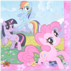 My Little Pony Lunch Napkins (16) - Claudia's 2nd Birthday